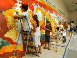 Hawaiians Painting a Presence at APEC