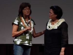 Creativity's Visual Voice – Indigenous Wisdom In Bold Color: Maile Meyer and Meleanna Meyer at #TEDxManoa