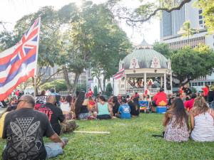 Kū Kiaʻi Mauna Rally at ʻIolani Palace
