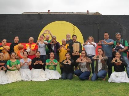 Hawaiians and Aboriginals stand in solidarity at Redfern