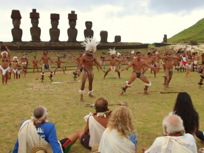 Worldwide Voyage | Rapa Nui Arrival Ceremony