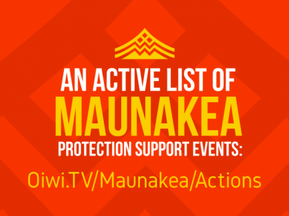 Maunakea Protection Support Events – Active List