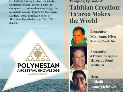 Polynesian Ancestral Knowledge | Episode 4 – Tahitian Creation: Taʻaroa Makes the World