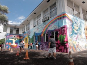Mele Murals: Cathedral Catholic Academy & Pacific Buddhist Academy